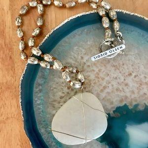 ✨⚓️Genuine Sigrid Olsen White Stone Necklace
